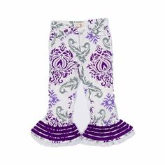 Trish Scully Child Purple Damask Pant only $48.00 - New Items