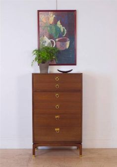 A Rare Mid Century 50's G Plan E Gomme Tallboy Chest of Drawers | eBay