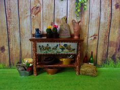Table for a doll. Dollhouse furniture. Dollhouse. Scale 1:12