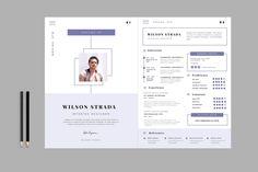 Resume Templates & Design : Clean Resume / CV b - Fonts, Graphics, Photoshop, Templates, Ico. Template Cv, Resume Design Template, Print Templates, Resume Templates, Design Resume, Design Templates, Graphic Design Cv, Web Design, Design Art