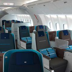 Hella Jongerius for KLM World Business Class cabin
