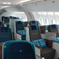 Hella Jongerius for KLM World Business Class cabin