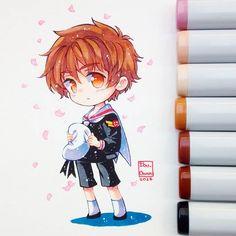 """""""Daisuki""""  Hoy día veré la OVA :'u9  En fin. Les dejo al crush por excelencia, Shaoran Li ❤ #shaoran #sakuracardcaptor #cardcaptorsakura #chibi #kawaii #cute #cuteboy #copicmarker #copicsketch #copicmultiliner"""