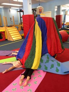 Fort building in kids yoga
