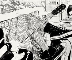 Dark Anime, Aesthetic Art, Aesthetic Anime, Manga Art, Anime Art, Yazawa Ai, Photo Manga, Piskel Art, Anime Monochrome