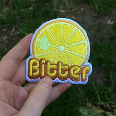 But the lemon would be pink and the framing of the letters would be purple