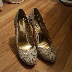 BCBG Maxazria pumps BCBG Maxazria pumps.  Gold heel. BCBGMaxAzria Shoes Heels