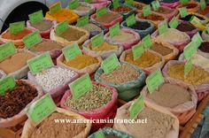 Spices at a market in the South of France.