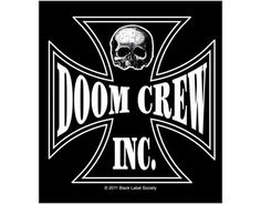 5b48e9a17e5 Official Black Label Society Sticker measuring approx 95mm x 105mm  featuring the Doom Crew Inc Skull