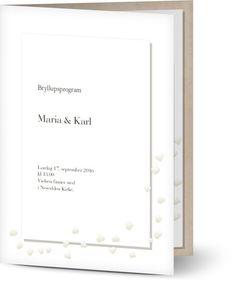 Kirkeprogram til bryllup | Program Vielse Design