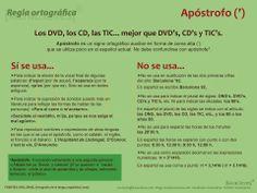 Regla ortográfica | Apóstrofo | www.maskaracteres.com