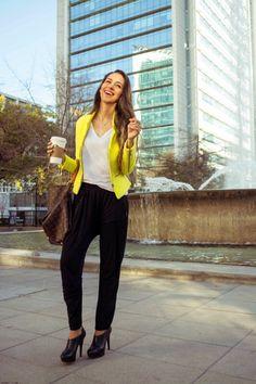 Yellow statement blazer