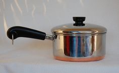Vintage revere ware pots with the copper bottoms, it seemed like every family had at least one. Mom still has hers. Vintage Dishes, Vintage Kitchen, Vintage Toys, Retro Vintage, Great Memories, Childhood Memories, Revere Ware, Oldies But Goodies, I Remember When