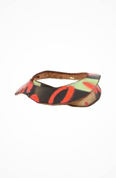 Leather Couture by Jessica Galindo Stamped Bangles--Graffiti  #accessories  #jewelry  #bracelets  https://www.heeyy.com/leather-couture-by-jessica-galindo-stamped-bangles-graffiti-orange/