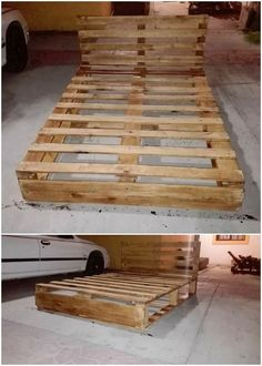 Right in this image, we have the pallet bed framing out of the wood pallet where you can easily catch the simple planks distribution in the bed framing artwork design. This wood pallet bed frame is so custom designed out in the brilliant sort of the finishing outlook impacts.