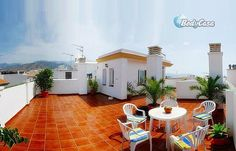 Holiday Home in Almunecar, Costa Tropical of Granada, Spain  Villa overlooking the mediterranean sea. Very sunny with large windows, decorated and equipped as a true family house. Large and sunny swimming pool. #travel #resorts #Villas #destinaions #Holidays