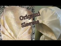 Origami sleeves cutting and stitching (very easy method)in hindi Blouse Styles, Blouse Designs, Lehenga Blouse, Jewellery Designs, Hello Everyone, Women's Fashion Dresses, Origami, Stitching, Sewing
