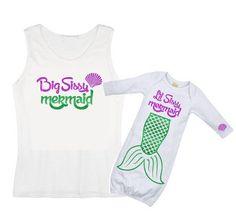 Big Sister Little Sister Set - Mermaid