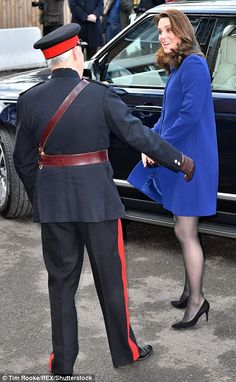 Nice to meet you! The Duchess was all smiles as she arrived in Wickford today