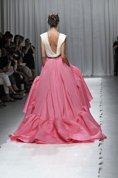 What an amazing shade of pink. #gown