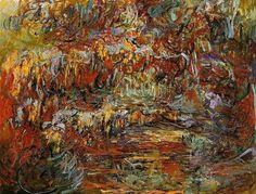 The Japanese Bridge 8, 1924 by Claude Monet. Impressionism. landscape