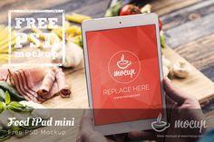 iPad Mini Mockup Food - Mocup