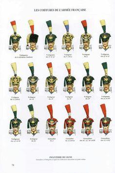Copricapi della fanteria di lime francese
