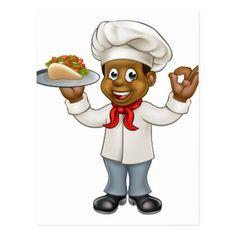 #chef - #Cartoon Chef Kebab Postcard