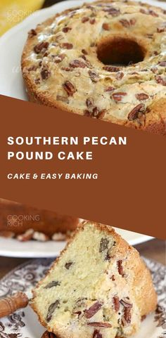 Pecan Pound Cake is the most moist and tastes pound cake ever! It has so much flavor and comes out perfect every time!Southern Pecan Pound Cake is the most moist and tastes pound cake ever! It has so much flavor and comes out perfect every time! Baking Desserts, Just Desserts, Delicious Desserts, Cake Baking, Yummy Food, Pecan Desserts, Pecan Pound Cake Recipe, Pound Cake Recipes, Pound Cakes