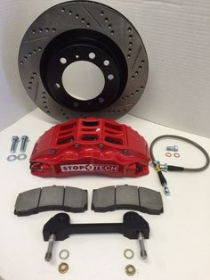 Complete front SOS PERFORMANCE brake upgrade for off-road or street, oversize rotors for optimal cooling, calipers for reduced compliance, Stainless Steel Lines for better pedal feel Toyota Tundra, Toyota Tacoma, Truck, Kit, Fitness, Tacoma World, Trucks, Excercise
