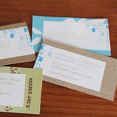 DIY Business Cards Made Cheap From Scraps of Paper, Clothespins and Old Business Cards | EcoSalon | Conscious Culture and Fashion