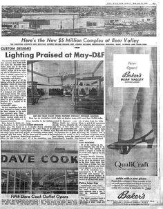 My local mall growing up. Ad from Bear Valley Mall, Denver 1966 Mountain High, Personal History, Denver Colorado, Shopping Center, Rocky Mountains, Square Feet, Fun Things, Childhood Memories, Growing Up