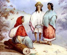 Indios del pueblo de la laguna de la Cocha, provincia de Pasto