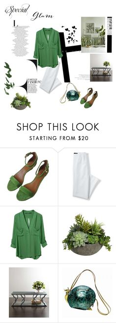 """""""SPECIAL GLAM"""" by moly35 ❤ liked on Polyvore featuring Tory Burch, Lands' End, Diane James, Waverly, Braccialini and Hedi Slimane"""