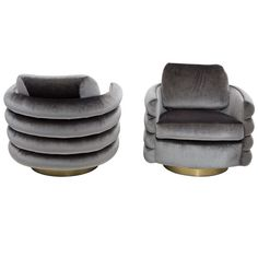 Milo Baughman Swivel Chairs | From a unique collection of antique and modern armchairs at http://www.1stdibs.com/furniture/seating/armchairs/