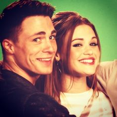 holland roden and colton haynes  Such beautiful people! Haha
