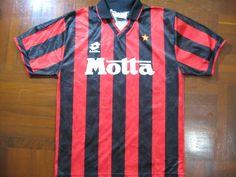 Originals Vintage Lotto Ac Milan Italy Serie A 1993 Rare Home Retro Football Shirts, Ac Milan, Milan Italy, Polo Shirt, The Originals, Mens Tops, Etsy, Vintage, Fashion