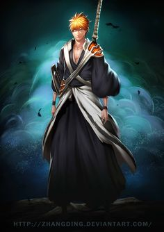 Kurosaki Ichigo back - Bleach 582 by ZhangDing