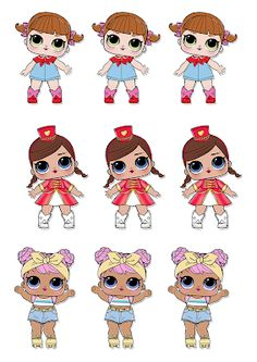 Dani Ferrari s Lol Doll Cake, Kolaci I Torte, Cute Disney Drawings, Holly Hobbie, 6th Birthday Parties, Diy Bow, Lol Dolls, Paper Dolls, Holidays And Events