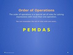 This .ppt file has 11 slides. It includes simple slides for the steps in PEMDAS, a What if? section for exponents inside parenthesis, a practice slide with 3 problems, and a slide with the names of 3 neat youtube videos to enhance learning. This makes a great tech resource for the introduction of PEMDAS.