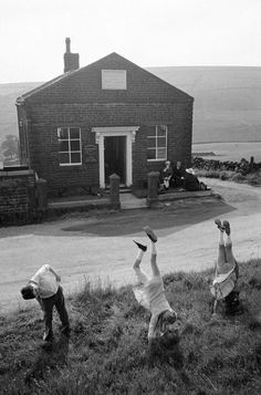 Martin Parr - England. West Yorkshire. Hebden Bridge. 1976. Crimsworth Deam Methodist Chapel.