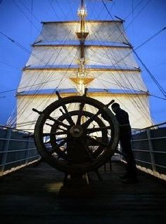 helm and sails Ship Wheel, Sailing Adventures, Yacht Boat, Sail Away, Set Sail, Speed Boats, Tall Ships, Nautical Theme, Under The Sea