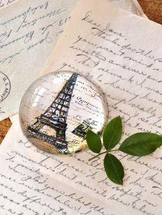 Paris Eiffel Tower Crystal Paper Weight