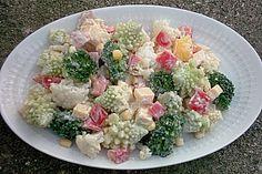 Blumenkohl - Brokkoli - Romanesco Salat (Rezept mit Bild) | Chefkoch.de
