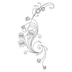 placed on top two blooming flowers of magnolia.  The other flowers are primroses (pure love) an iris flowers (passion).  This design is fit for colour too,
