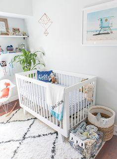 And pops of color nursery modern, coastal nursery, nautical baby nursery, c