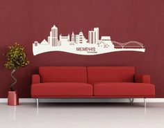 Memphis City Skyline Wall Decal by Style  Apply  cityscape highest quality wall decal sticker mural vinyl art home decor  4204  Gold 99in x 34in >>> Check this awesome product by going to the link at the image. Note: It's an affiliate link to Amazon.