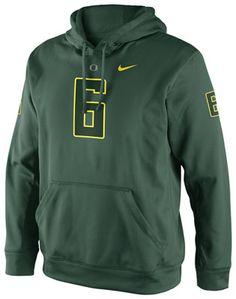Oregon Ducks Green Nike Football Replica #6 Jersey Hooded Sweatshirt