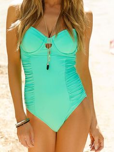 Mint One Piece Swimsuit by Swim Systems 2014 from #SwimwearBoutique...I have this in coral