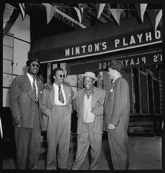 Thelonious Monk, Howard McGhee, Roy Eldridge, and Teddy Hill, Minton's Playhouse, New York, Sept. 1947.